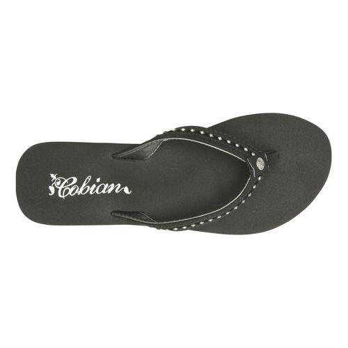 Womens Cobian Cartier Skinny Bounce Sandals Shoe - Black 10