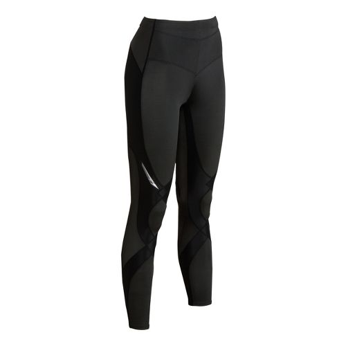 Womens CW-X Reflective Stabilyx Fitted Tights - Black M
