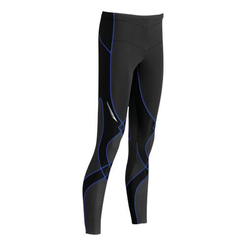 Womens CW-X Insulator Stabilyx Fitted Tights - Black/Blue XL