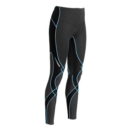 Womens CW-X Insulator Stabilyx Fitted Tights - Black/Peri XS