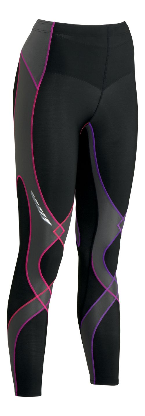 Womens CW-X Insulator Stabilyx Fitted Tights - Black/Purple S