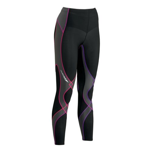 Womens CW-X Insulator Stabilyx Fitted Tights - Black/Purple XS