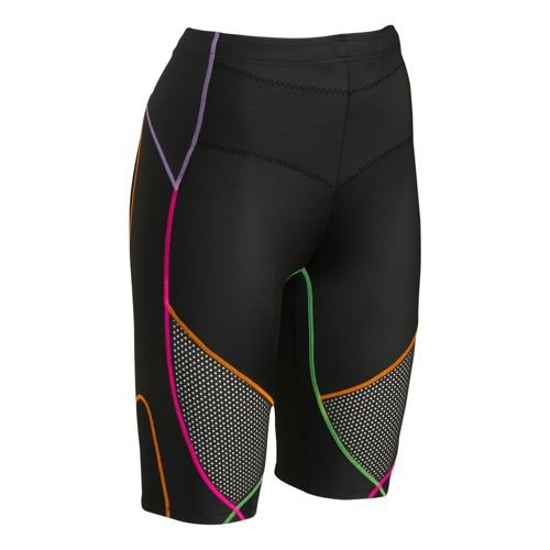 Womens CW-X Stabilyx Ventilator Fitted Shorts - Black Multi M