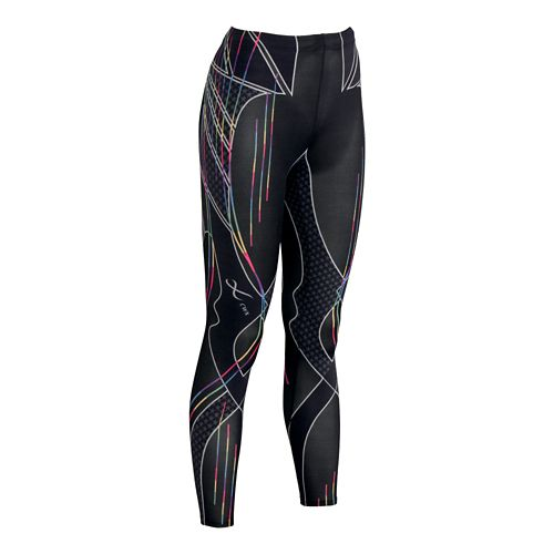 Womens CW-X Revolution Fitted Tights - Rainbow Stripe S
