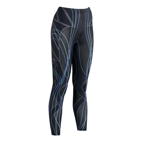 Womens CW-X Revolution Fitted Tights - Black/Blue S