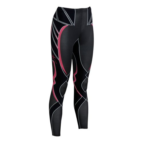 Womens CW-X Revolution Fitted Tights - Black/Red XS