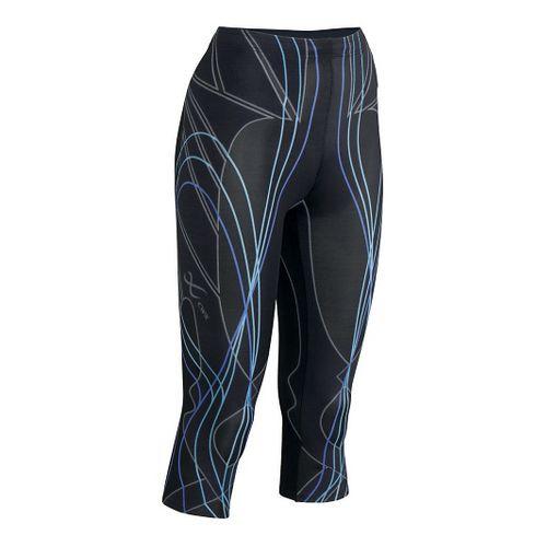 Womens CW-X 3/4 Length Revolution Capri Tights - Black/Blue XS
