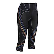 Womens CW-X 3/4 Length Revolution Capri Tights - Black Multi XS
