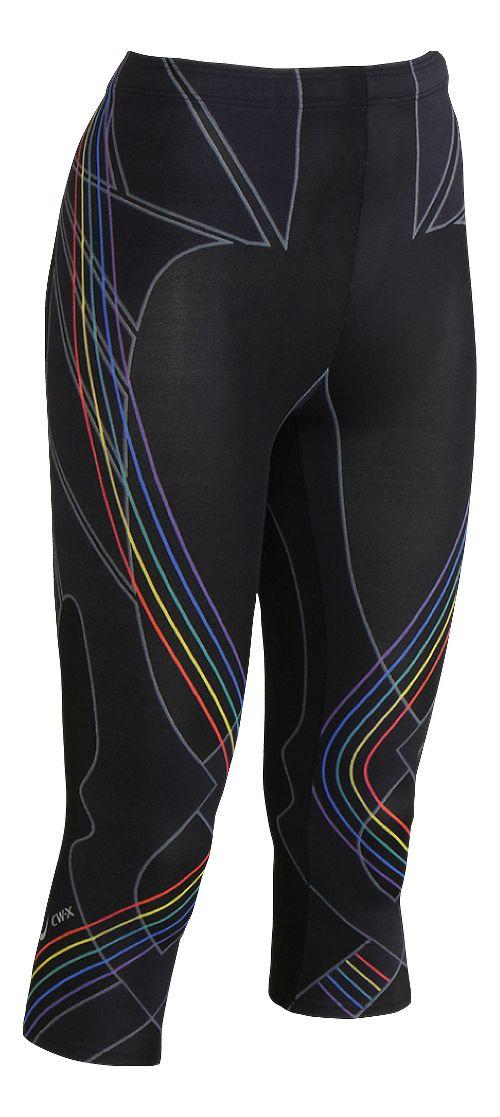 Womens CW-X 3/4 Length Revolution Capri Tights - Black Multi S