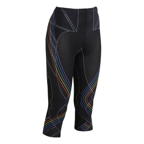 Womens CW-X 3/4 Length Revolution Capri Tights - Black Multi S