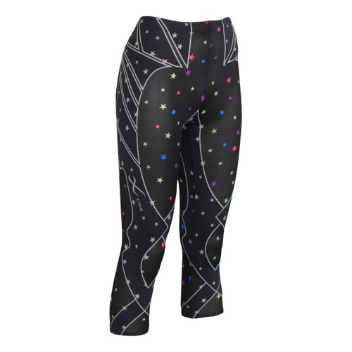 Womens CW-X 3/4 Length Revolution Capri Tights - Star/Print L