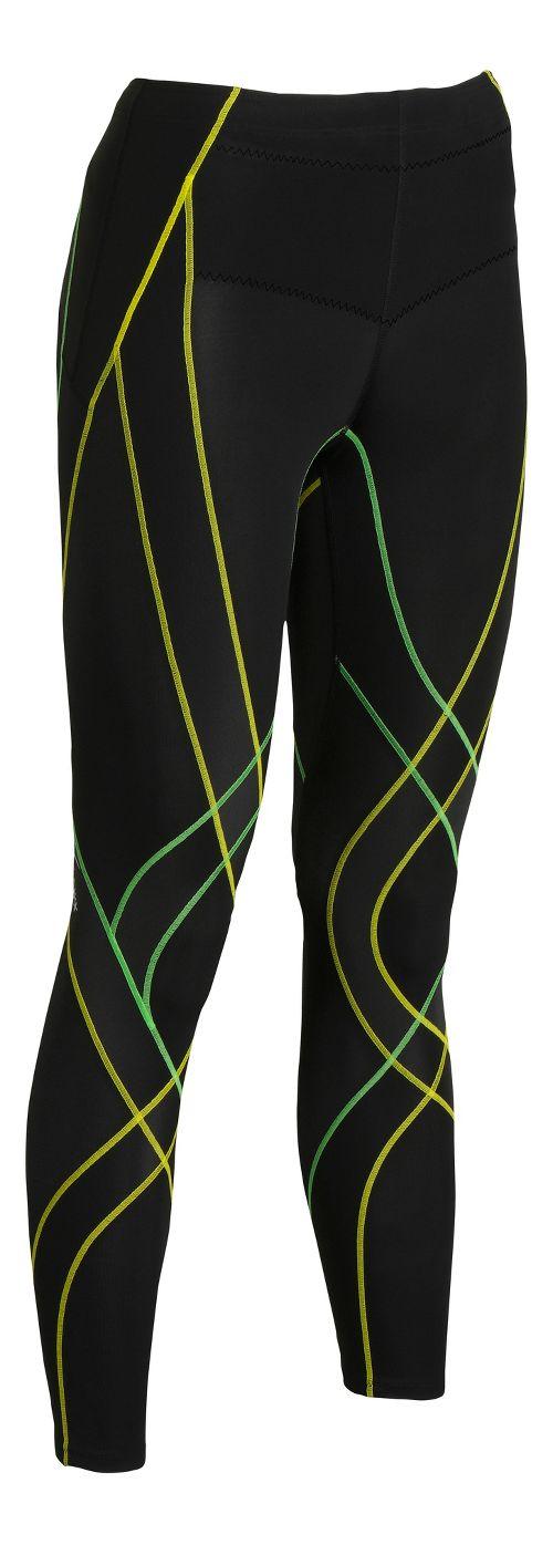 Womens CW-X Endurance Generator Fitted Tights - Black/Green L