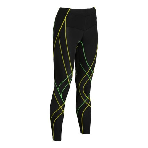 Womens CW-X Endurance Generator Fitted Tights - Black/Green XS