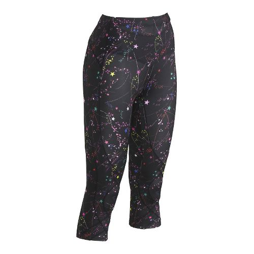 Womens CW-X 3/4 Length Stabilyx Print Capris Tights - Constellation L