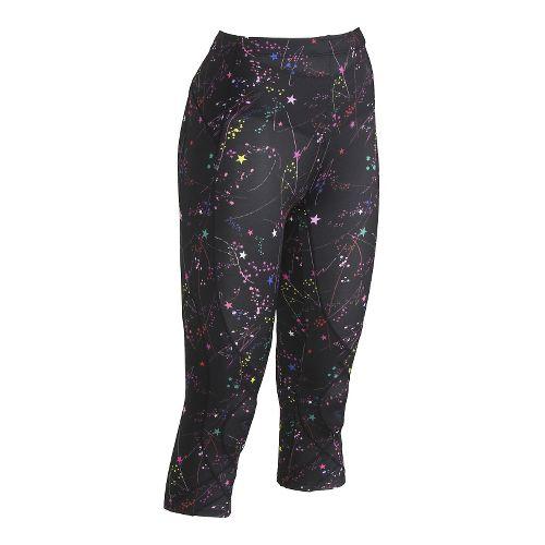 Womens CW-X 3/4 Length Stabilyx Print Capri Tights - Constellation M