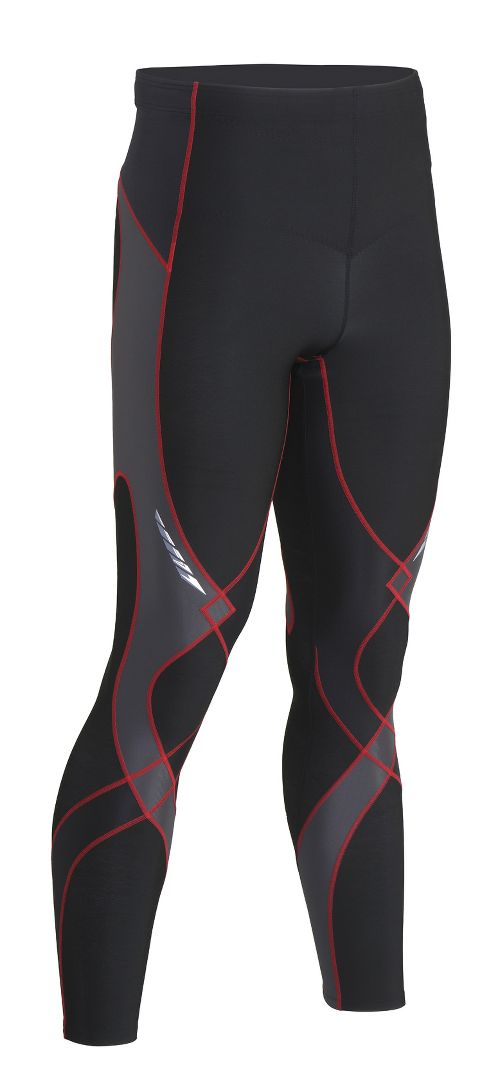Mens CW-X Insulator Stabilyx Fitted Tights - Black/Grey/Red S