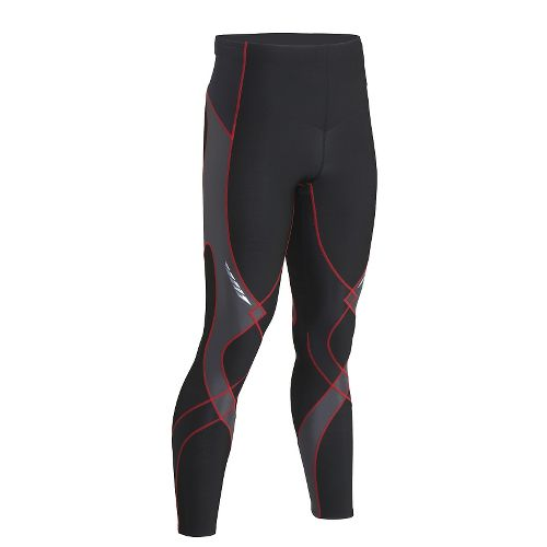 Mens CW-X Insulator Stabilyx Fitted Tights - Black/Grey/Red L