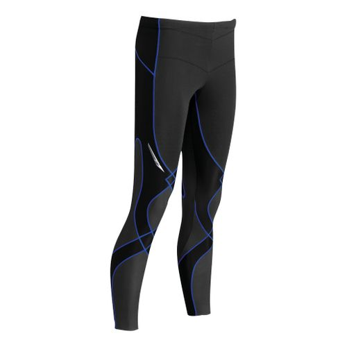 Mens CW-X Insulator Stabilyx Fitted Tights - Black/Blue M