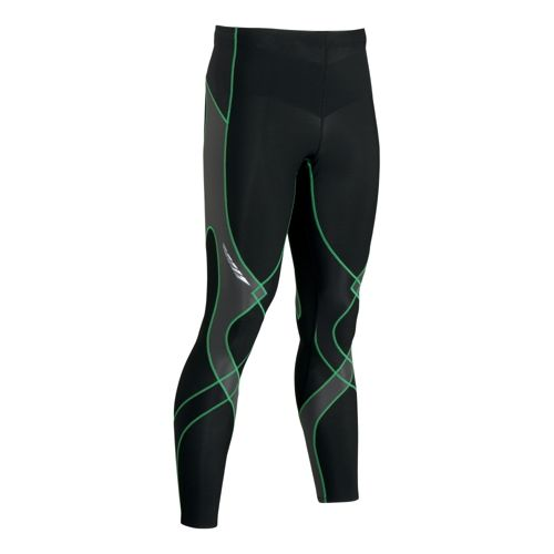 Mens CW-X Insulator Stabilyx Fitted Tights - Black/Green L