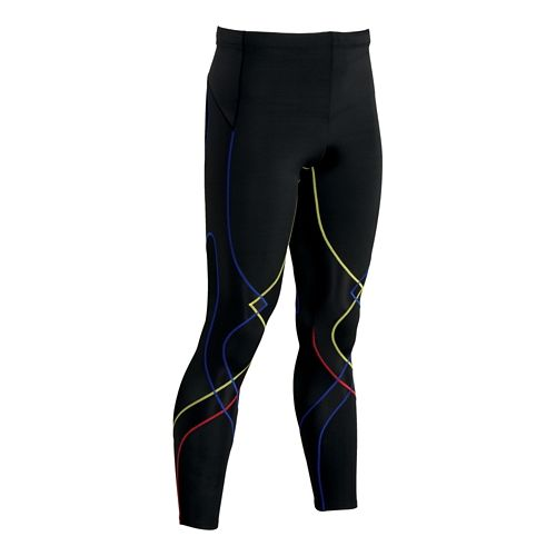 Mens CW-X Reflective Stabilyx Fitted Tights - Black/Multi L