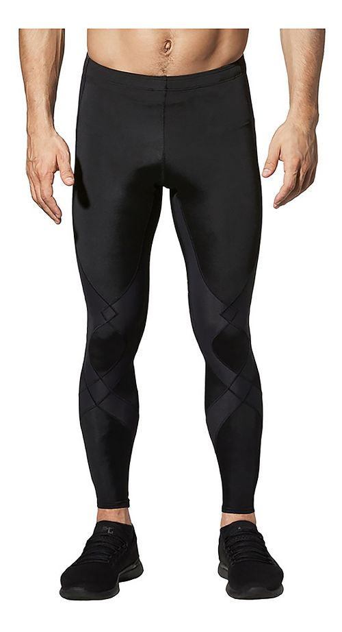 Mens CW-X Reflective Stabilyx Fitted Tights - Black XL-T