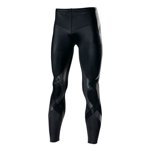 Mens CW-X Reflective Stabilyx Fitted Tights - Black/Charcoal L