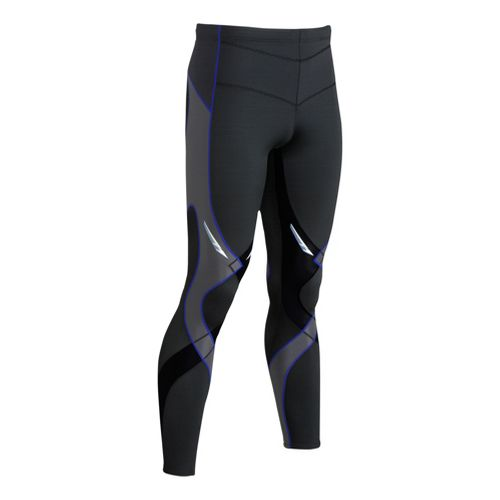 Mens CW-X Reflective Stabilyx Fitted Tights - Black/Grey XL