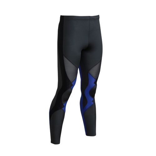 Mens CW-X Ventilator Fitted Tights - Black/Blue M
