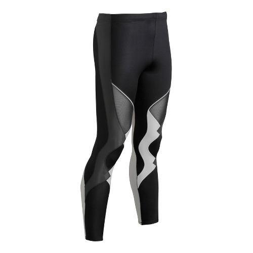 Mens CW-X Ventilator Fitted Tights - Black/Grey L
