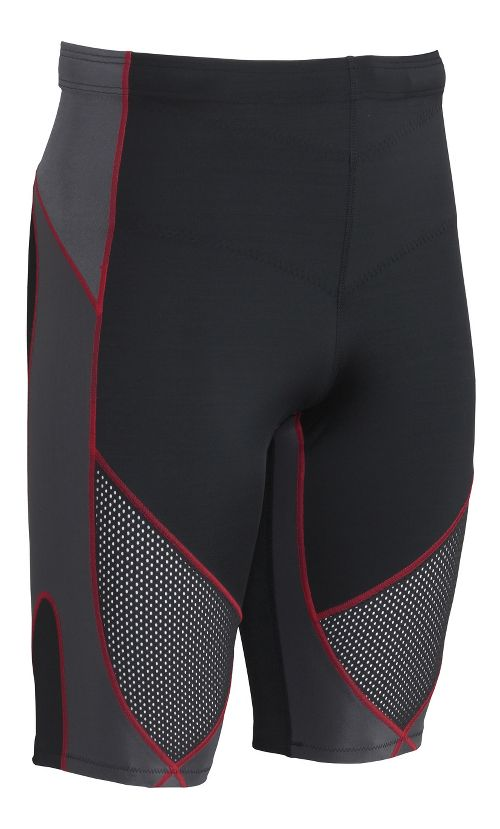 Mens CW-X Stabilyx Ventilator Compression & Fitted Shorts - Black/Grey/Red L
