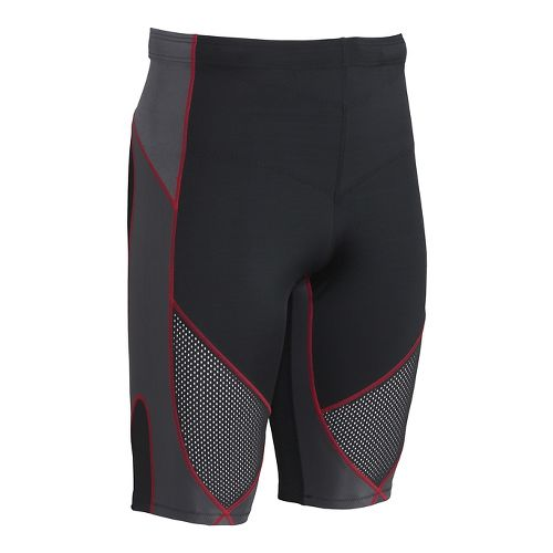 Mens CW-X Stabilyx Ventilator Compression & Fitted Shorts - Black/Grey/Red M