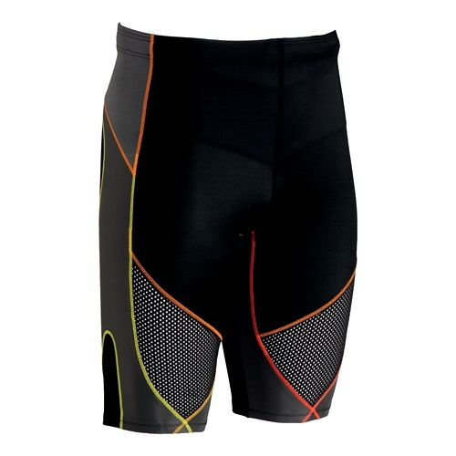 Mens CW-X Stabilyx Ventilator Fitted Shorts - Black/Yellow L