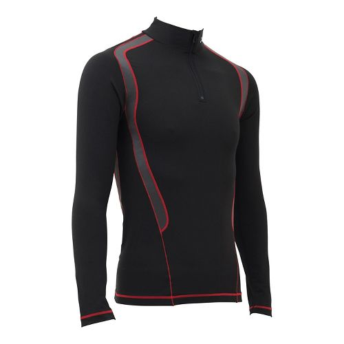 Mens CW-X Insulator Web Long Sleeve Technical Tops - Black/Grey/Red XL