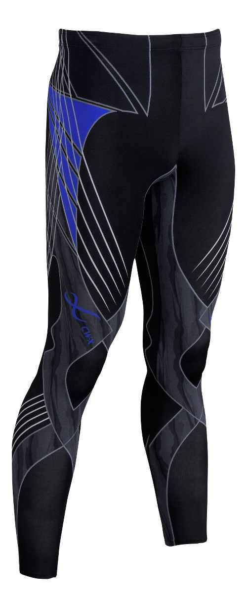 Mens CW-X Revolution Tights & Leggings Pants - Black/Blue S