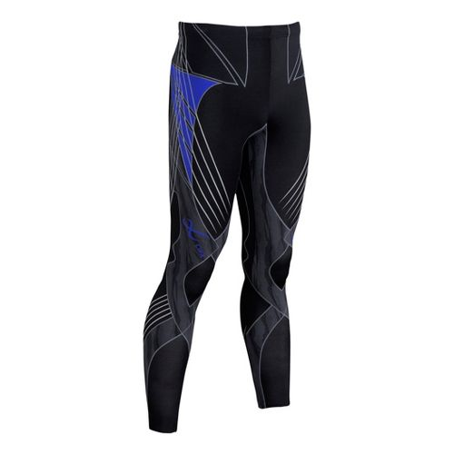 Mens CW-X Revolution Tights & Leggings Pants - Black/Blue S