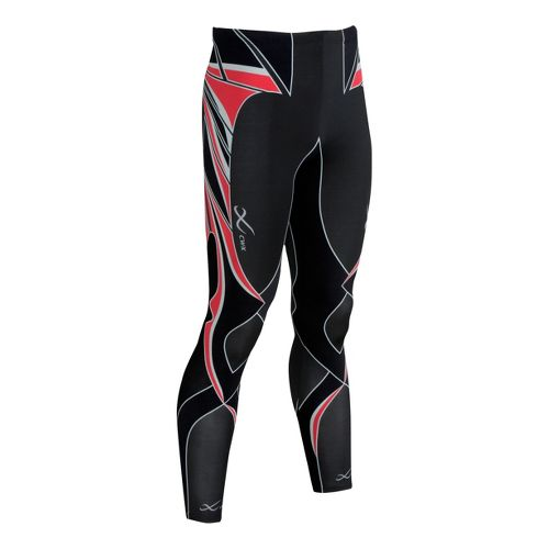 Mens CW-X Revolution Fitted Tights - Black/Red S