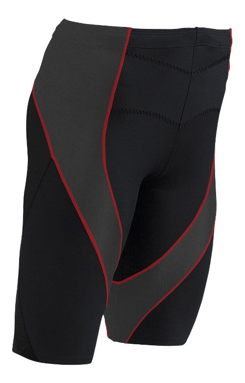 Mens CW-X Endurance Pro Compression & Fitted Shorts - Black/Orange L