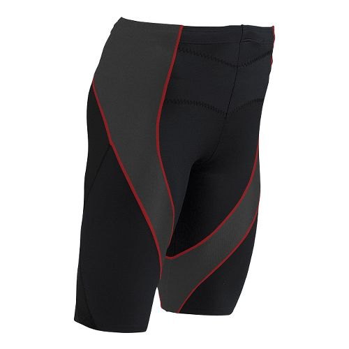 Mens CW-X Endurance Pro Fitted Shorts - Black Orange XL