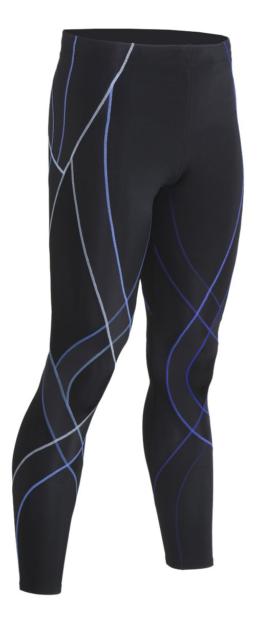 Mens CW-X Endurance Generator Fitted Tights - Black/Blue XL