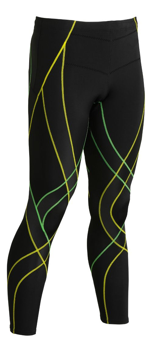 Mens CW-X Endurance Generator Fitted Tights - Black/Green L