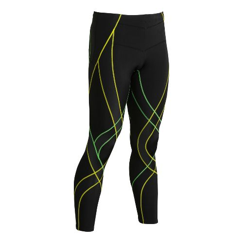 Mens CW-X Endurance Generator Fitted Tights - Black/Green S