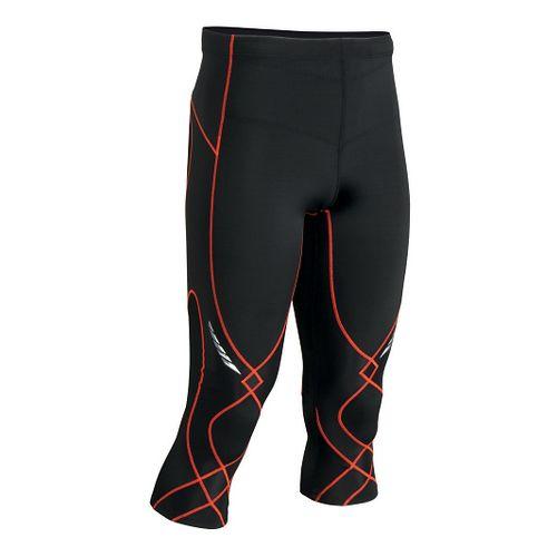 Mens CW-X 3/4 Stabilyx Capri Tights - Black/Orange L