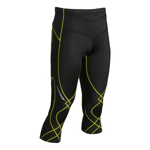 Mens CW-X 3/4 Stabilyx Capri Tights - Black/Yellow L