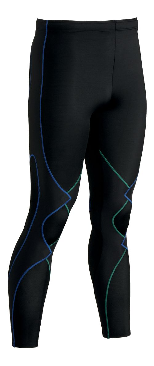 Mens CW-X Expert Fitted Tights - Black/Green XL