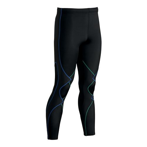Mens CW-X Expert Fitted Tights - Black/Green S