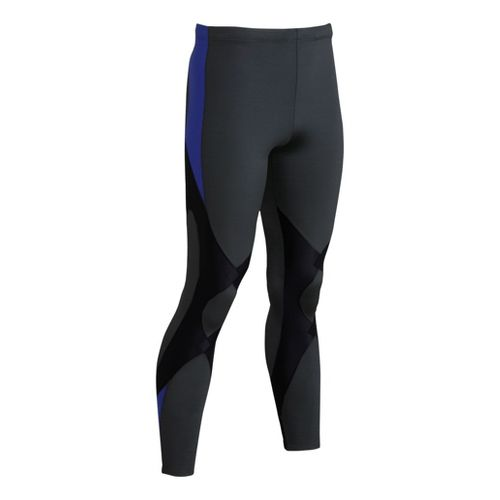 Mens CW-X Expert Fitted Tights - Black/Blue M