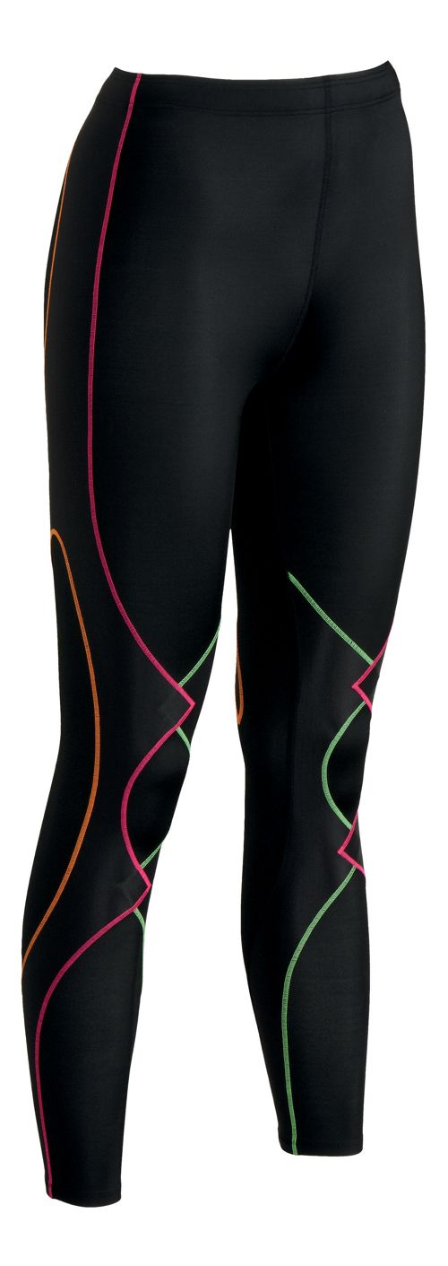 Womens CW-X Expert Fitted Tights - Black/Rainbow XS