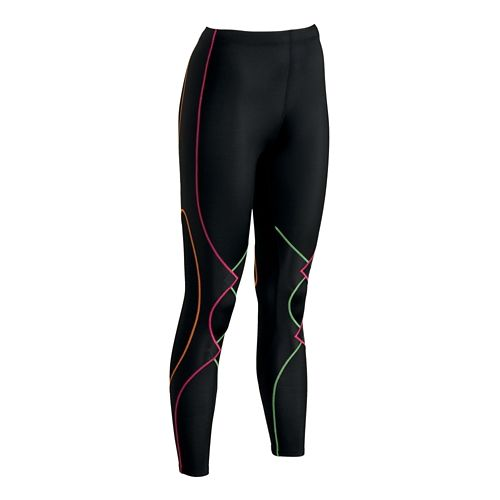 Womens CW-X Expert Fitted Tights - Black/Rainbow M