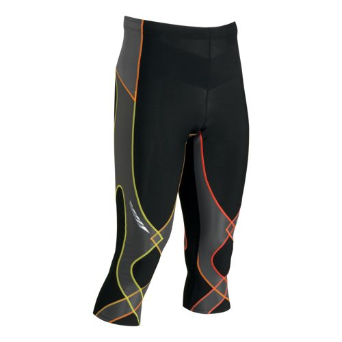 Mens CW-X Insulator Stabilyx 3/4 Capri Tights - Black/Yellow L