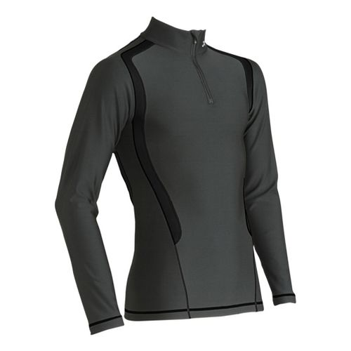 Mens CW-X Insulator Web Long Sleeve No Zip Technical Tops - Black S